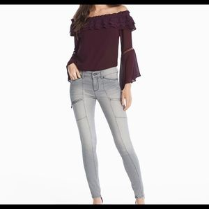 WHBM Skinny Ankle Utility Jean